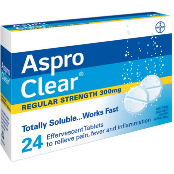 Aspro Clear Regular Strength 24 Tablets