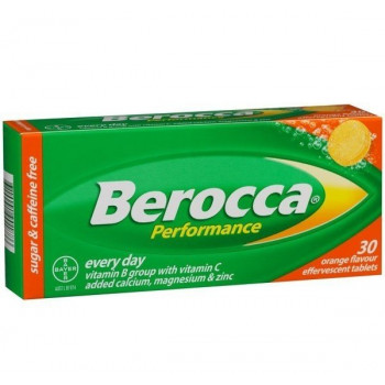 Berocca Performance Effervescent Tab Orange 30