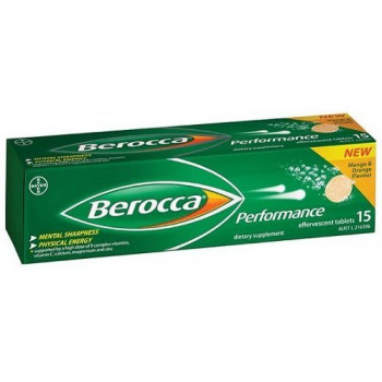 Berocca Performance Effervescent Tab Mango & Orange 15