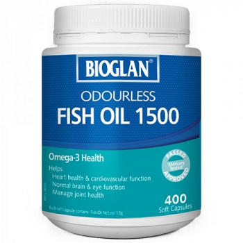 Bioglan Odourless Fish Oil 1500Mg x 400 Caps