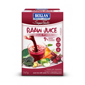 Bioglan Superfoods Raaw Juice Powder Veggie Power 7x7g
