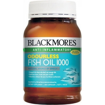 Blackmores ODOURLESS Fish Oil 1000 Capx200