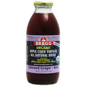 Bragg Organic Apple Cider Vinegar Concord Grape and Acai 473ml