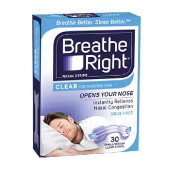 Breathe Right Nasal Strips Clear Small/Medium 30