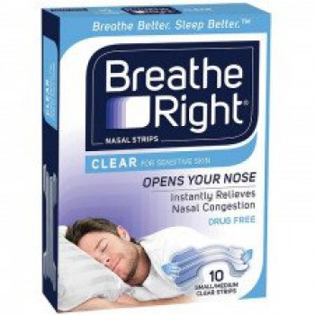 Breathe Right Nasal Strips Clear Small/Medium 10