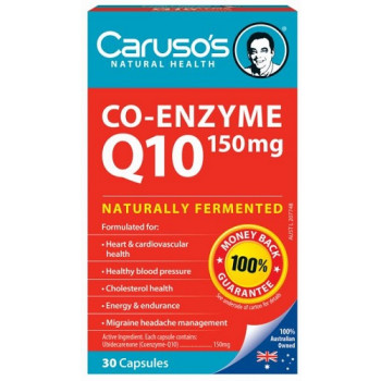 Caruso's Co-Enzyme Q10 150mg 30 Capsules