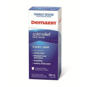 Demazin Cold Relief Blue Syrup 100mL
