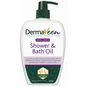 DermaVeen Extra Gentle Shower and Bath Oil 500mL