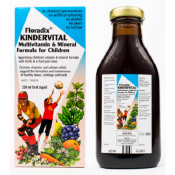 Floradix Kindervital Multivitamin & Mineral Formula for Children 250mL