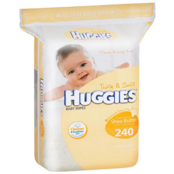 Huggies Baby Wipes Shea Butter Jumbo Refill 240