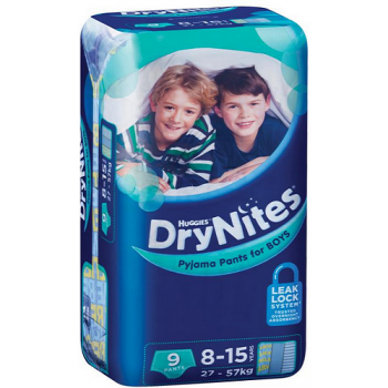 Huggies DryNites Boy 8-15 Years 9 Pants