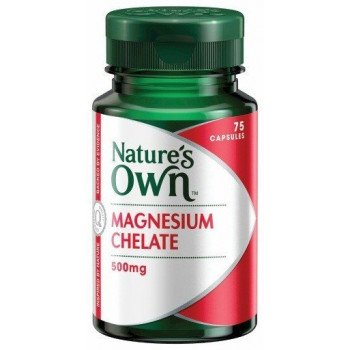 Nature's Own Magnesium Chelate 500mg X75Caps