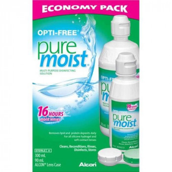 Opti-Free Pure Moist Solution Economy Pack 300ml +90ml