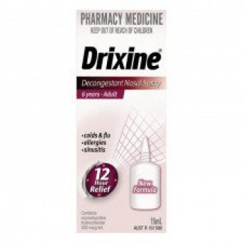 Drixine Decongestant Nasal Spray 15ml