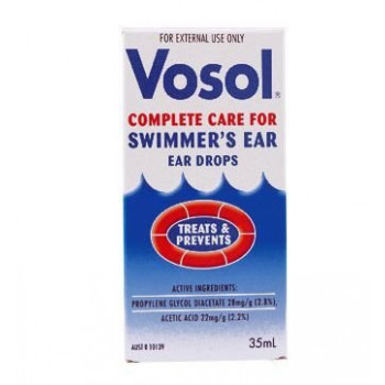 Vosol Ear Drops 35Ml For prevention of swimmers ears
