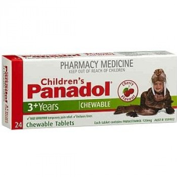 Children's Panadol Chewable Tablets 3+ Years 24 Tabs