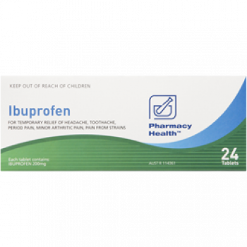 Pharmacy Health Ibuprofen 48 Tabs