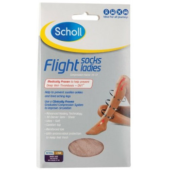 Scholl Flight Socks Ladies 1 Pair Aus 6-8