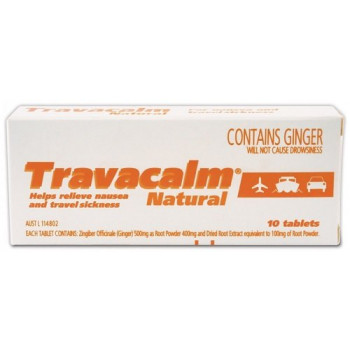 Travacalm Natural 10 Tablets