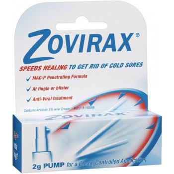 Zovirax Antiviral Coldsore Cream Pump 2g