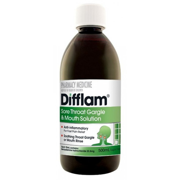 Difflam Sore Throat Gargle And Mouth Solution 500ml Your