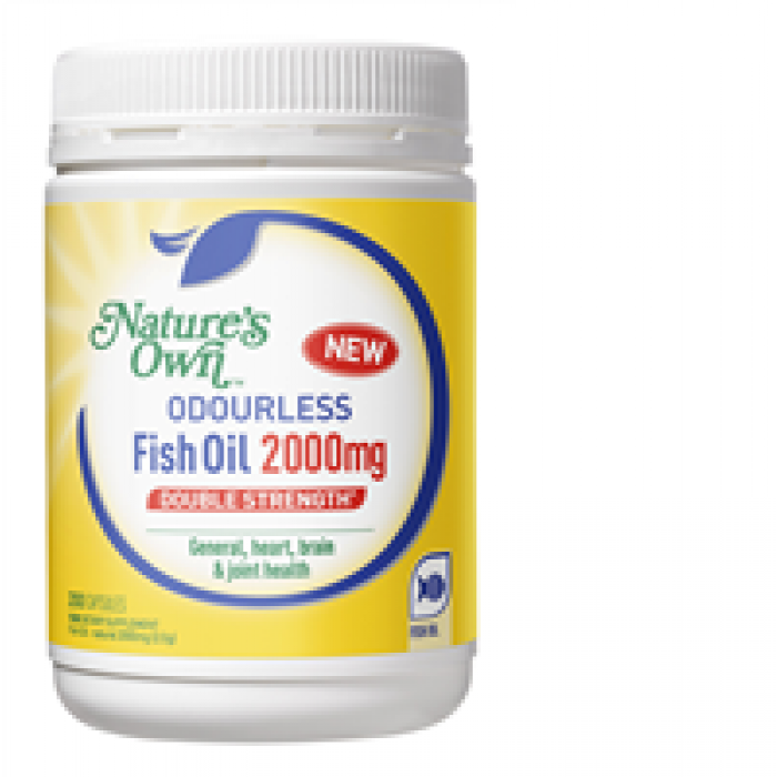 Nature s own odourless fish oil double strength 2000mg for Fish oil and arthritis