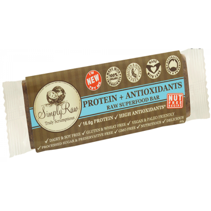 Simply raw protein antioxidant raw superfood bar 20 x for Superfood bar