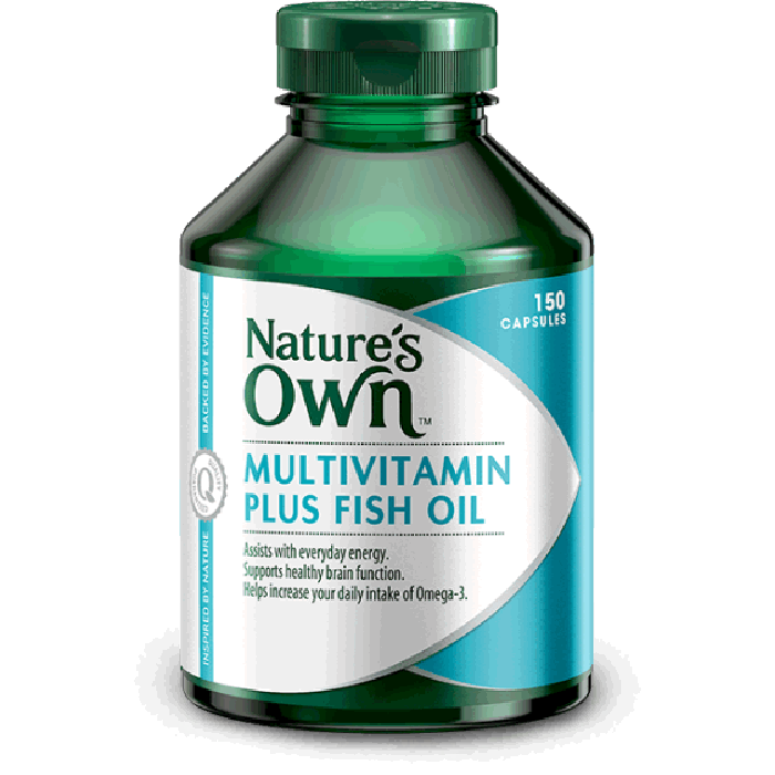 nature 39 s own multivitamin plus omega 3 fish oil x 150 caps