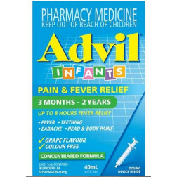 Advil Infants Pain & Fever Relief 3 Months - 2 Years  - 40 mL