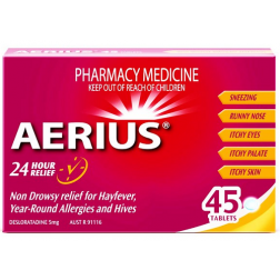 Aerius 5Mg For 24 Hour Allergy Relief X45