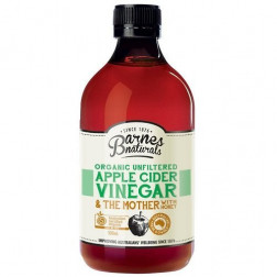 Barnes Naturals Organic Apple Cider Vinegar + Honey 500ml