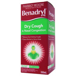 Benadryl PE Dry Cough And Nasal Decongestant 200Ml