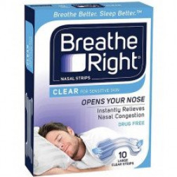 Breathe Right Nasal Strips Clear Large 10
