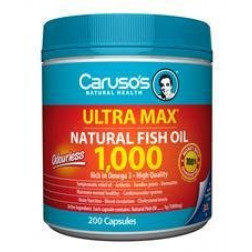 Caruso's Omega3 MAX Natural Fish Oil 1000mg 200Caps
