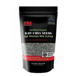 EM Certified Organic Raw Chia Seeds 250g