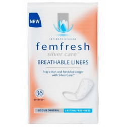 Femfresh Silver Care Breathable Liners 36 Pack