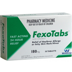 FexoTabs 180mg 50 Tablets