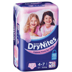 Huggies DryNites Girl 4-7 Years 10 Pants