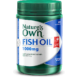 Nature's Own Omega 3 Odourless Fish Oil 1000 MG x 400 Caps
