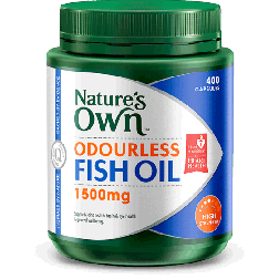 Nature's Own Omega 3 High Strength Odourless Fish Oil 1500 MG x 400 Caps