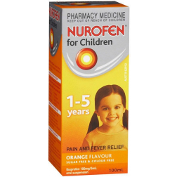 Nurofen Children 1-5 Years Orange Flavour 100Ml