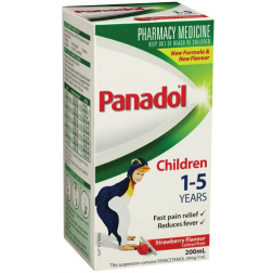 Panadol Children 1-5 Years Strawberry 200mL