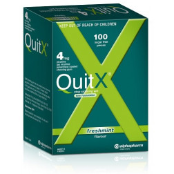 QuitX 4mg Freshmint Flavour 100 Nicotine Chewing Gum