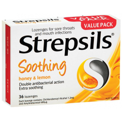 Strepsils Soothing Honey And Lemon x36