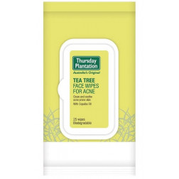 Thursday Plantation Tea Tree Face Wipes for Acne - 25 Wipes