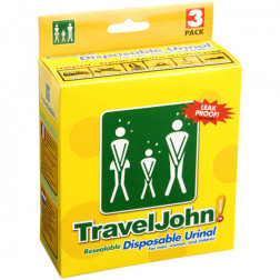 Travel John - Portable Disposable Urinal (3 Pack)