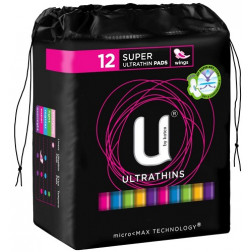 U by Kotex Pads Super Ultrathin with Wings 12
