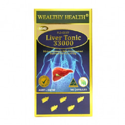 Wealthy Health FLD- Exist Liver Tonic 33000 100 Capsules