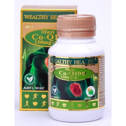 Wealthy Health Maxi Co-Q10 150mg + E - 60 Capsules