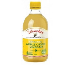Wescobee Organic Apple Cider Vinegar 500ml